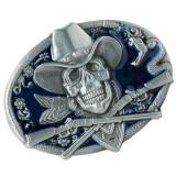 Review Magideal Gothic Skeleton Ghost Head Halloween Hip Hop Cowboy Biker Belt Buckle Blue Intl Terbaru