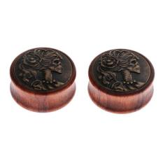 Magideal Pair G*rl Pattern Flared Piercings Wood Ear Plug Tunnels Gauges Expanders 30Mm Intl Tiongkok Diskon 50