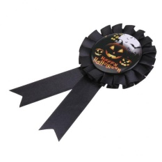 MagiDeal Labu Penghargaan Rosette Badge Halloween Party Pin Bros Favor Gift-Intl