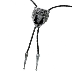 Harga Magideal Vintage Cattle Head Totem Silver Western Cowboy Bolo Tie Pu Kulit Kalung Intl Online Tiongkok