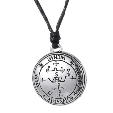 Beli Magideal Vintage Sigil Dari Archangel Talisman Amulet Angel Jewelry Pendant Kalung Dengan Kartu Kredit