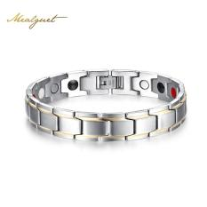 Ongkos Kirim Magnetic Health Bracelets For Men Stainless Steel Luxury Fashion Gold Color Jewelry Pulsera Bike Bijoux Intl Di Tiongkok