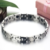 Ulasan Tentang 1 Pc Magnetic Stone Bracelet Health Care Titanium Chain Bracelet For Women Intl
