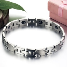 Jual 1 Pc Magnetic Stone Bracelet Health Care Titanium Chain Bracelet For Women Intl Tiongkok