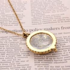 Magnifier Pendant Kalung Magnify Glass Reeding Decorativ Monocle Kalung-Intl