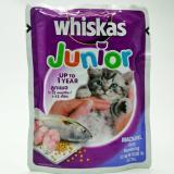 Toko Makanan Basah Kucing Whiskas Pouch Junior Mackarel 85Gr 5Pcs Terlengkap Di Indonesia