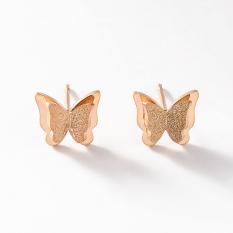 Toko Manis Naik Berlapis Emas Temperamen Kupu Kupu Anting Anting Perhiasan Telinga Terlengkap