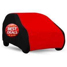 Mantroll Cover Mobil / Pelindung Mobil / Sarung Mobil / Mantel Mobill / Jas Mobil Agya / Ayla / Mirage / Spark / Splash Type Sporty - Hitam Atap Merah