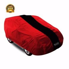 Mantroll Cover Mobil Khusus Daihatsu Feroza / Mantel Mobil Berkualitas / Sarung Mobil Original Mantroll / Jas Mobil /Selimut Pelindung Mobil - merah strip hitam