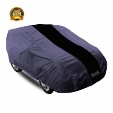 Mantroll Cover Mobil / Penutup Mobil / Mantel Mobil / Pelindung Mobil Khusus Mitsubishi Mirage - abu strip hitam