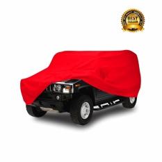 Mantroll Cover Mobil Khusus Toyota Soluna / Pelindung Mobil Mantroll Original / Jas Mobil Berkualitas / Sarung Mobil Original / Mantel Penutup mobil    - Merah