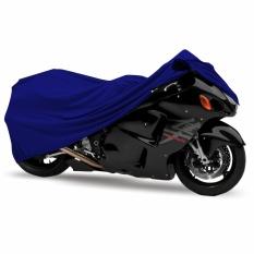 Mantroll Cover Motor Khusus Kawasaki Ninja RR / Mantel Motor Berkualitas / Sarung Motor Original Mantroll / Jas motor / Selimut Pelindung Motor- Biru Metalic