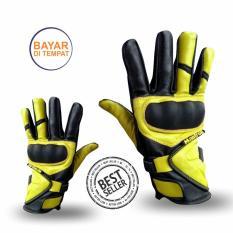 Mantroll Sarung Tangan Motor / Saarung Tangan Biker / Sarung Tangan Kulit / Premium Kulit Sapi Asli - Panjang
