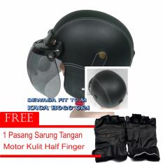 Harga Marcase Helm Klasik Dewasa Remaja Bogo Original Sarung Tangana Hitam Helm Retro Online