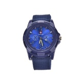 Harga Pemasaran Fashion Gemius Army Racing Force Militer Sport Men Officer Fabric Band Watch Blue Intl Termahal