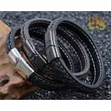 Berapa Harga Mars Premium Bracelet Gelang Leather Magnetic Buckle Stainless Steel Ms 1101 Di Riau Islands