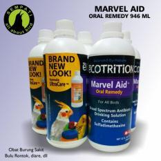 Marvel Aid Oral Remedy 946ml Ecotrition Obat Burung Sakit Bulu Rontok Bulu Kantuk Nafsu Makan
