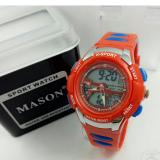 Jual Mason Jam Tangan Anak Anak Digital Analog Model Exclusive Rubber Strap Branded Original