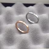 Harga Masuknya Orang 18K Sederhana Perempuan Titanium Baja Naik Cincin Ekor Emas Berlian Cincin Murah