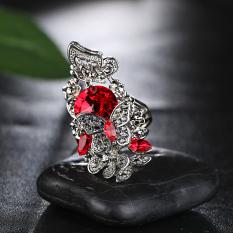 Masuknya orang Korea Fashion Style perempuan berlian kristal kupu-kupu batu permata cincin cincin