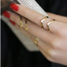 Gaya Korea Cincin wanita modis berlebihan jari telunjuk Korea Selatan sendi Cincin 1 paket/set