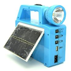 Matougui Lampu Senter Emergency Tenaga Matahari Include Solar Cell [Blue]