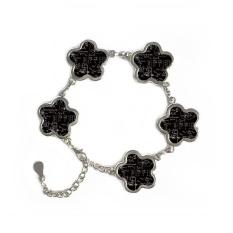 Matrix Rumus Matematika Ilmu Kalkulus-sosok Bunga Bentuk Gelang Logam Jaringan Hadiah Perhiasan dengan Dekorasi Rantai-Intl