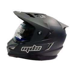MDS Helm Full Face Motor Cross MDS Super Pro Supermoto Double Visor Yamaha Ninja Honda Doff - Hitam