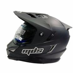 Jual Mds Helm Full Face Motor Cross Mds Super Pro Supermoto Double Visor Yamaha Ninja Honda Warna Doff Hitam Satu Set