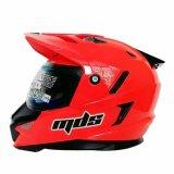Mds Helm Full Face Motor Cross Mds Super Pro Supermoto Double Visor Yamaha Ninja Honda Warna Red Fluo Merah Promo Beli 1 Gratis 1