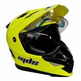 Jual Mds Helm Full Face Motor Cross Mds Super Pro Supermoto Double Visor Yamaha Ninja Honda Warna Yellow Fluo Kuning Mds Online