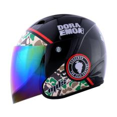 MDS Sport R3 Doraemon Army Helm Half Face - Black Green