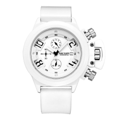 Harga Megir 2002 Male Quartz Watch 30M Water Resistance Silicone Band White Intl Megir Tiongkok