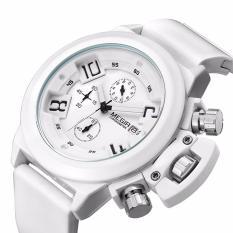 Jual Megir 2002 Pria Quartz Watch 30 M Tahan Air Silikon Internasional Di Tiongkok