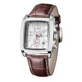 Spesifikasi Megir 2028 Pria Quartz Square Watches Chronograph Rectangle Megir