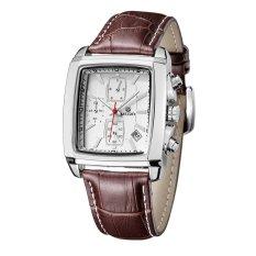 Beli Megir 2028 Pria Quartz Square Watches Chronograph Rectangle Murah Indonesia