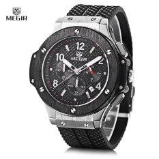 Jual Megir 3002G Male Quartz Watch Dengan Tanggal Fungsi Silikon Band Luminous Pointer 30 M Tahan Air Intl Megir Murah