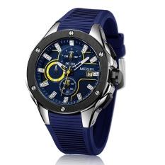 MEGIR Brand Quartz Men Watch Clock Relogio Masculino Luxury Chronograph Silicone Army Military Sport Watches Mens Saat Erkekler MN2053G