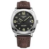 Harga Mode Megir Militer Pria Kuarsa Perhiasan Mewah Bercahaya Chronograph Jam Tangan Kulit Baru