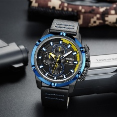 Toko Megir Fashion Sport Pria Jam Tangan 3Atm Tahan Air Quartz Luminous Man Jam Tangan Relogio Musculino Chronograph Kalender Intl Not Specified Di Hong Kong Sar Tiongkok