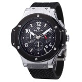 Harga Megir Hot Fashion Chronograph Tentara Quartz Watches Pria Luminous Militer Olahraga Silicone Watch Jam Tangan Branded