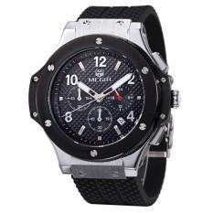 Harga Megir Hot Fashion Chronograph Tentara Quartz Watches Pria Luminous Militer Olahraga Silicone Watch Jam Tangan Murah