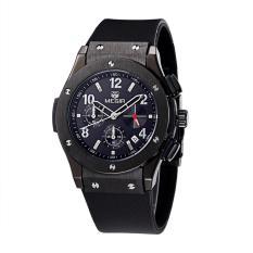 Spesifikasi Megir Jam Tangan Pria 30M Water Resistant Quartz Watch With Silicone Strap Date Function Mn 3002 M Bk 1 Black Black