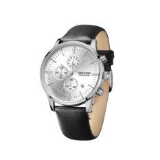 Iklan Megir Jam Tangan Pria Quartz Water Resistance Date Function Ml 2011 Gbk 7 White Silver Black Leather