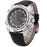 Dapatkan Segera Megir M2023 Male Quartz Watch Multifungsi Sport Arloji Perak Intl
