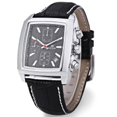 Toko Megir M2028 Male Quartz Watch Rectangle Dial Arloji Olahraga Hitam Termurah Di Tiongkok