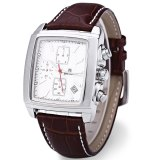Situs Review Megir M2028 Male Quartz Watch Rectangle Dial Sport Wristwatch White