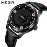 Toko Megir Men Watch Top Brand Luxury Kulit Asli Terukir Dial Militer Jam Tangan Clock Male Erkek Kol Saati Relogios Intl Tiongkok