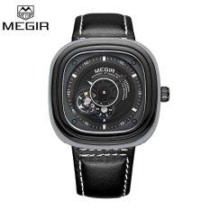 MEGIR Asli Mewah Pria Watch Kulit Klasik Militer Watches Automatic Arloji Mekanis ML3012G-Intl