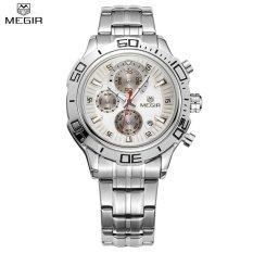 Beli Megir Asli Quartz Watch Bisnis Stainless Steel Pria Jam Tangan Multifungsi Chronograph Kalender Arloji Ms2019G Intl Secara Angsuran